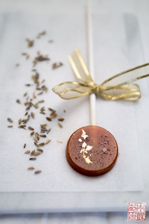 Caramel Lavender Fleur de Sel Lollipop