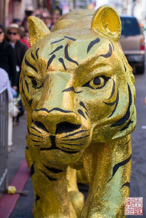 Chinatown golden tiger