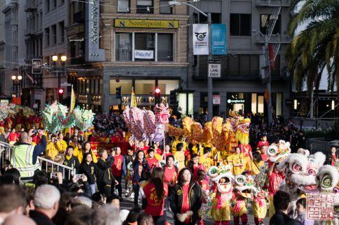 Chinatown parade dragons