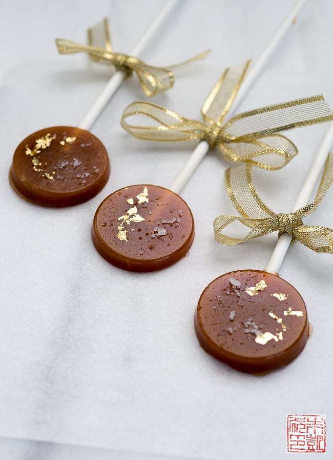 Caramel, Lavender, and Fleur de Sel Lollipops