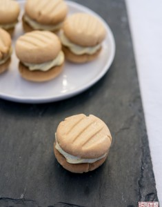 Peanut Butter Melting Moments with Caramelized Banana Cream