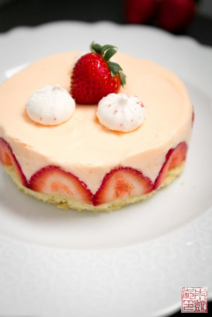 Strawberry Rose Fraisier