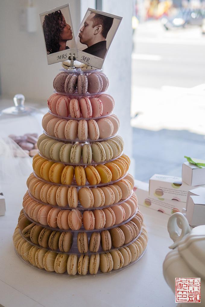 Chantal Guillon macaron cake