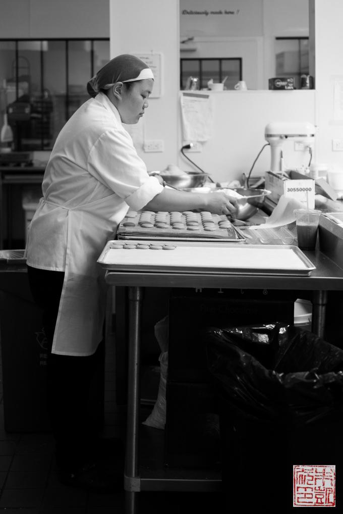 Chantal Guillon making macarons