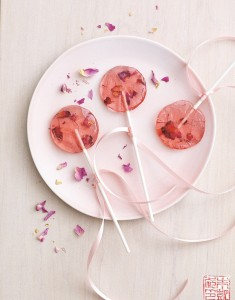 Rose Saffron Lollipops for National Lollipop Day