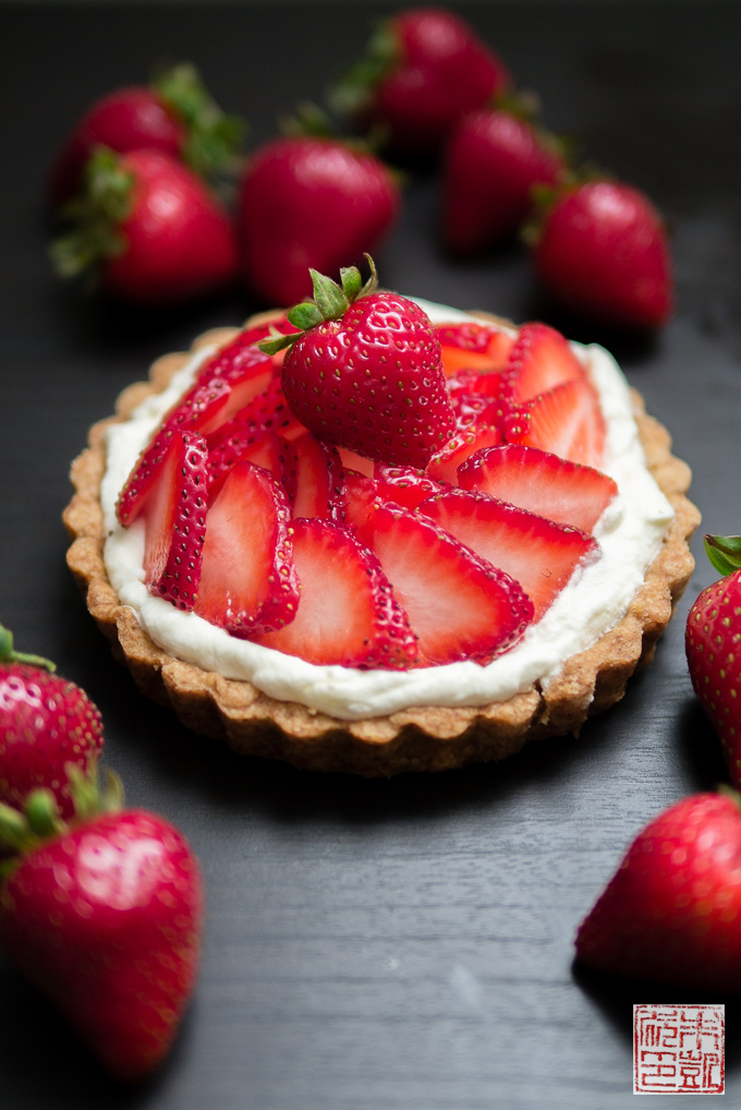 Strawberry Balsamic Tart