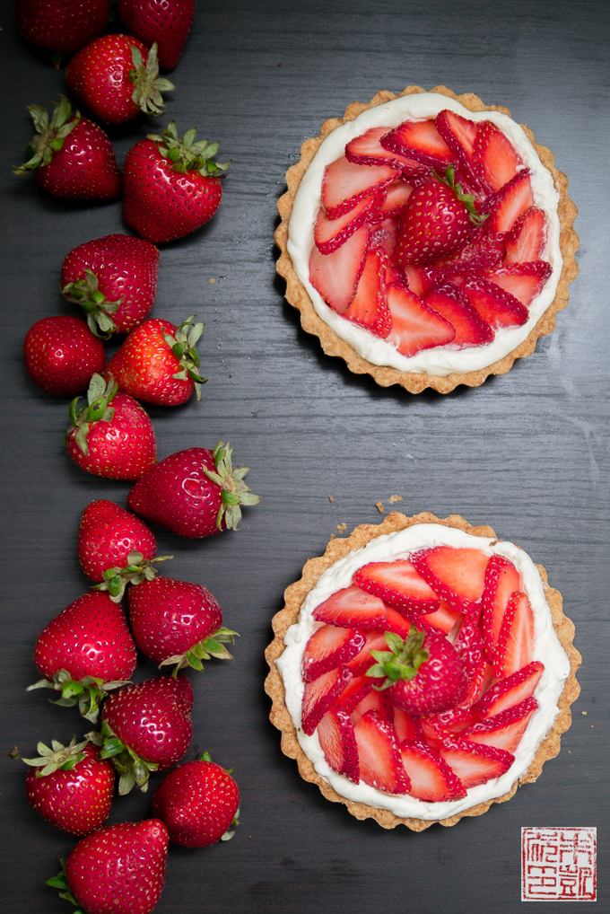 Strawberry Balsamic Custard Tart Recipe — Dishmaps