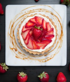 Strawberry Tart with Balsamic Caramel