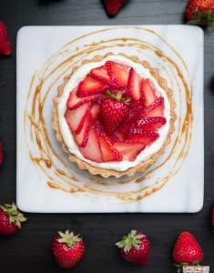 Sweet Summer: Strawberry White Balsamic Caramel Tarts