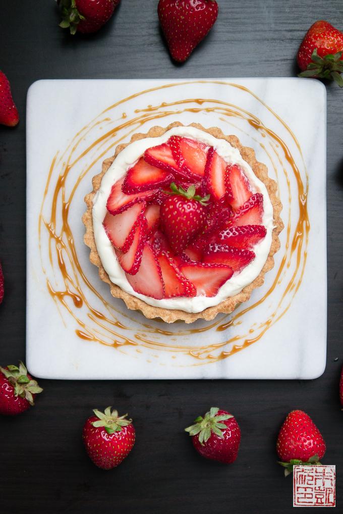 Strawberry Tart with Balsamic Caramel
