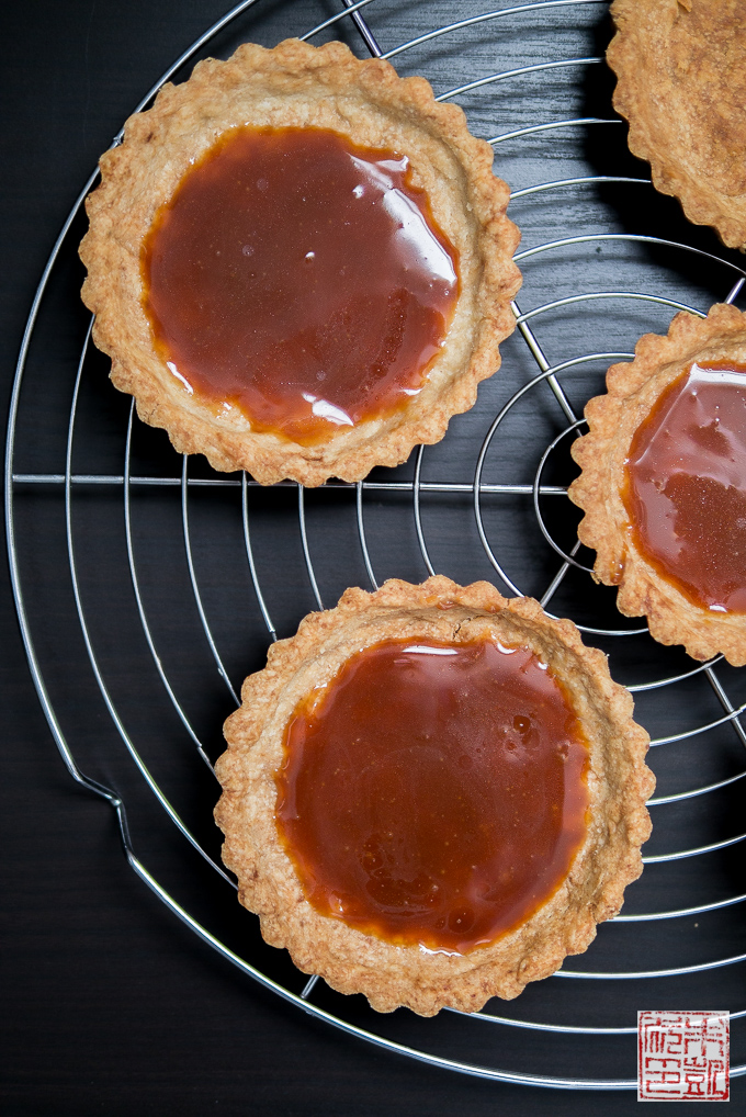 Tart Shells filled with Caramel