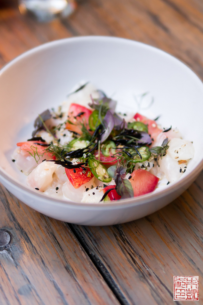 Dirty Habit halibut ceviche