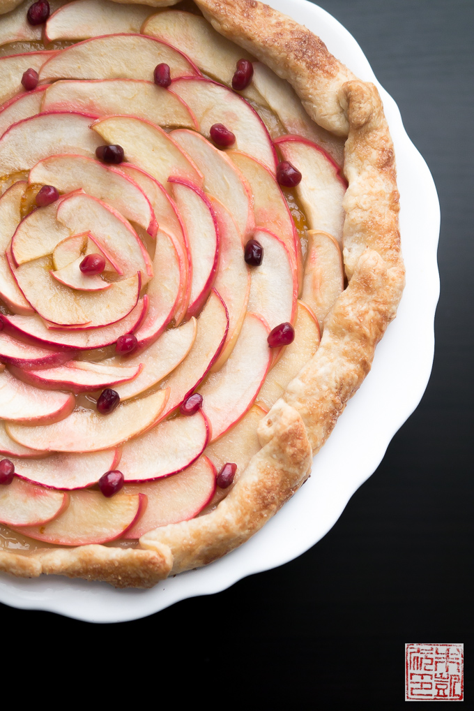 Apple Pomegranate Galette