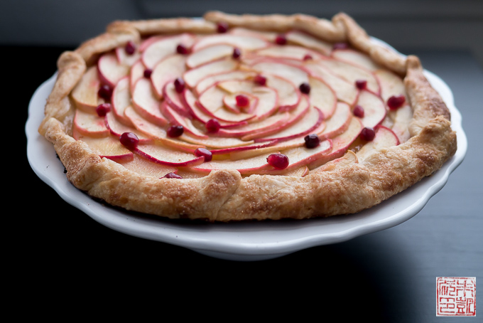 Apple Pomegranate Galette side