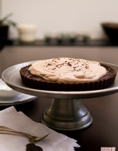 {Cookbook Review}: Guittard's Roasted Banana Chocolate Tart