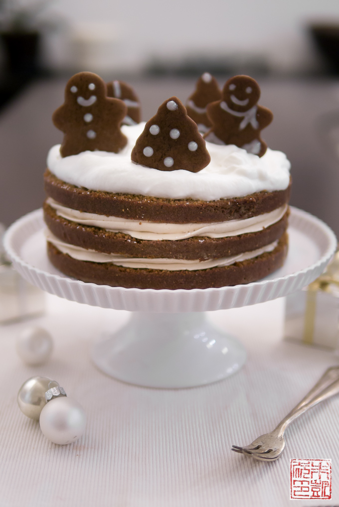 Incredible Holiday Gingerbread Cake With Cookie Butter Frosting Dessert First Funny Birthday Cards Online Hetedamsfinfo