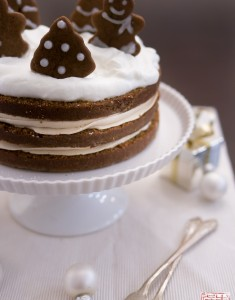 Holiday Gingerbread Cake with Cookie Butter Frosting