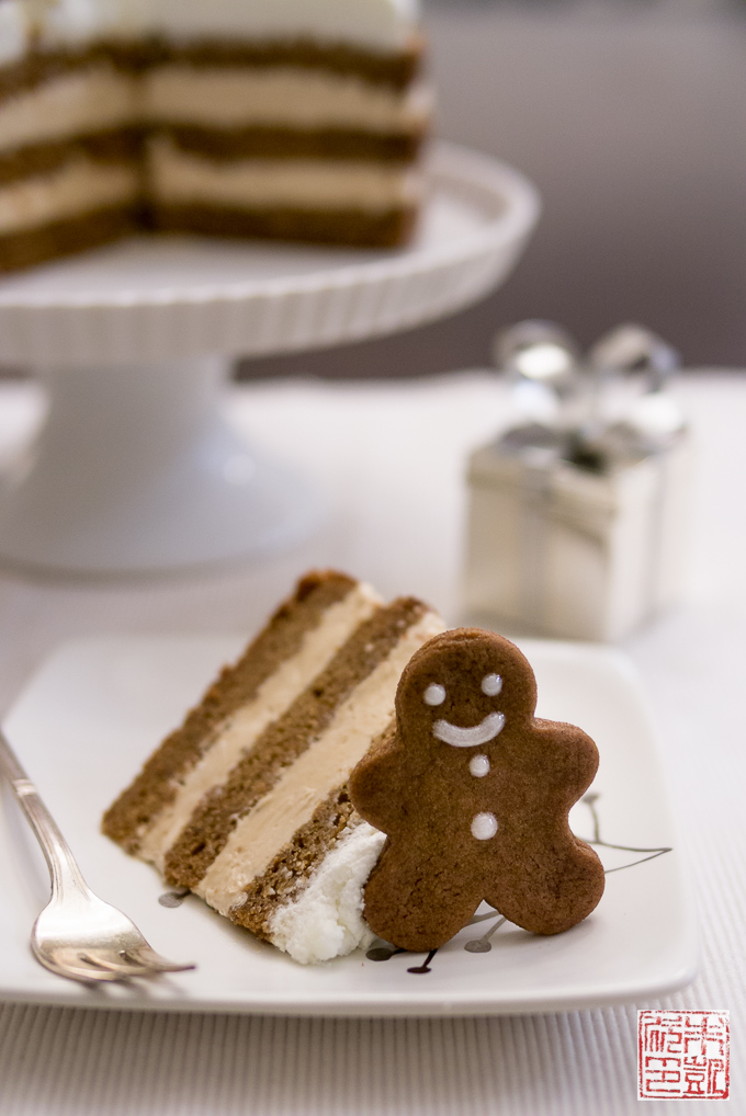 Holiday Gingerbread Cake with Cookie Butter Frosting - Dessert First