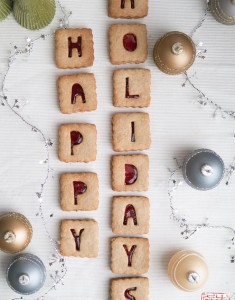 Alphabet Cranberry Linzer Cookies