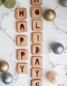Alphabet Cranberry Linzer Cookies