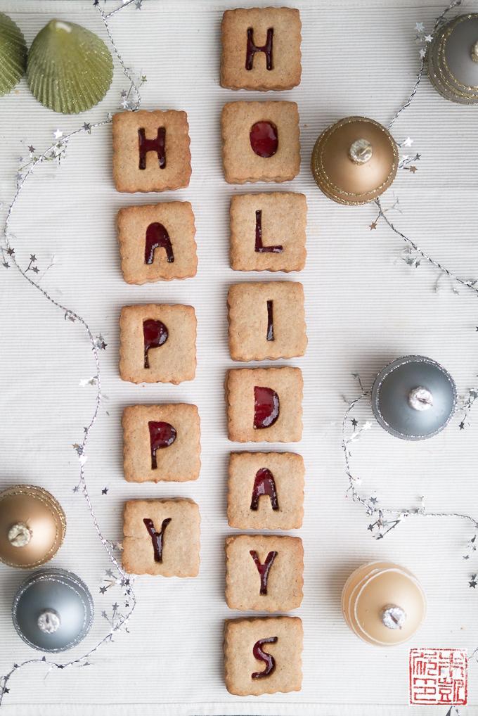 Cranberry Linzer Cookies Holidays