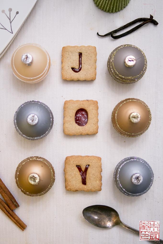 Cranberry Linzer Cookies Joy