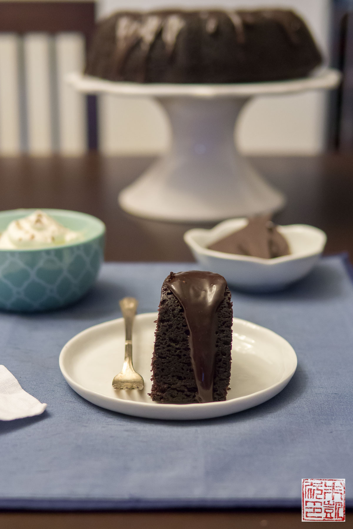 Theo Chocolate Stout Cake with Mint Whipped Cream - Dessert First