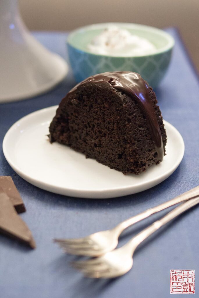 Theo Chocolate Stout Cake slice