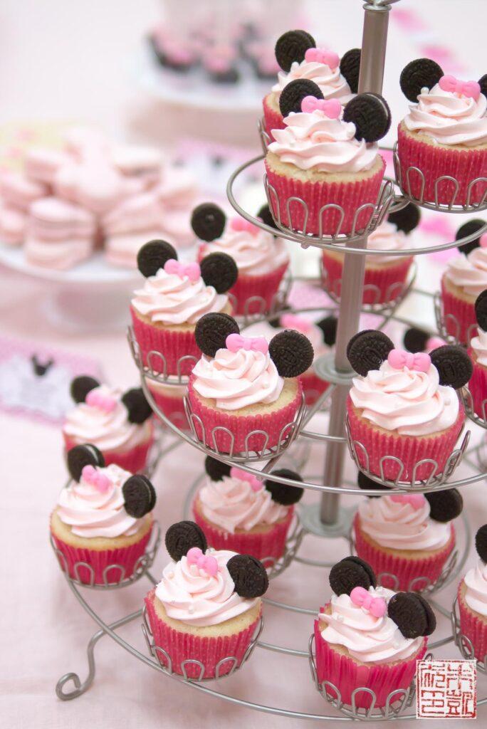 Minnie Mouse Cupcake Tree
