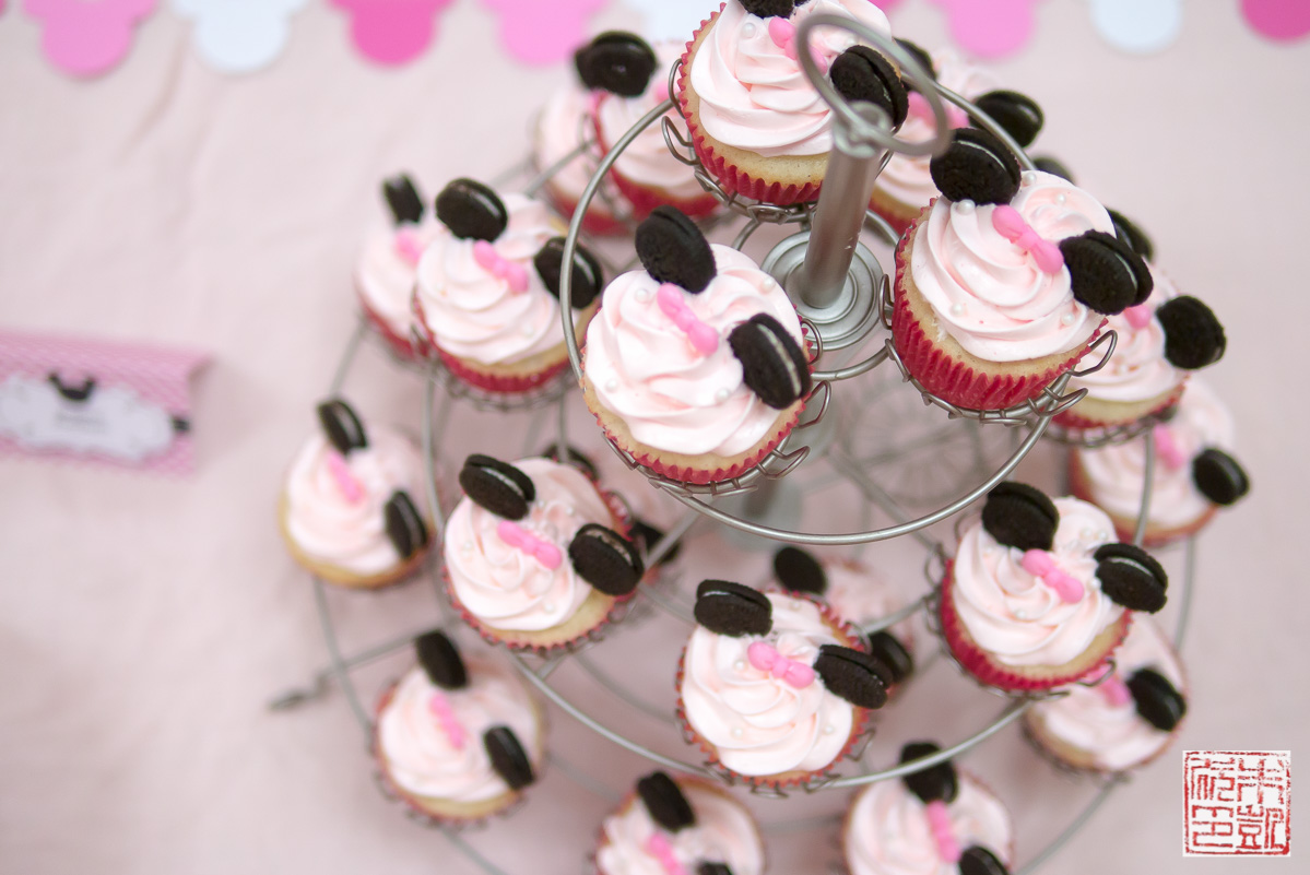 Minnie Mouse Cupcakes For A 3rd Birthday Party