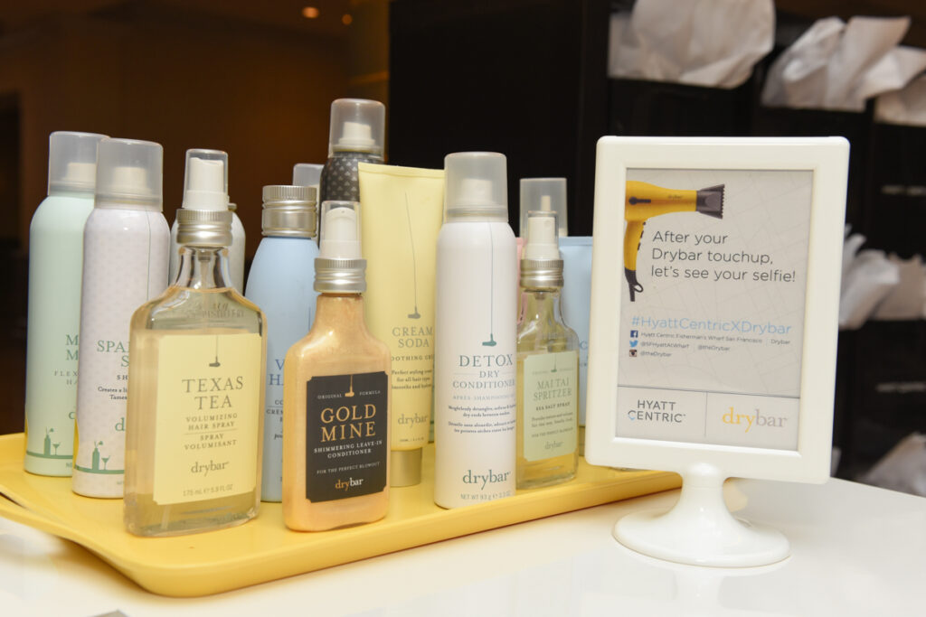 Hyatt Centric Media Event - DryBar products