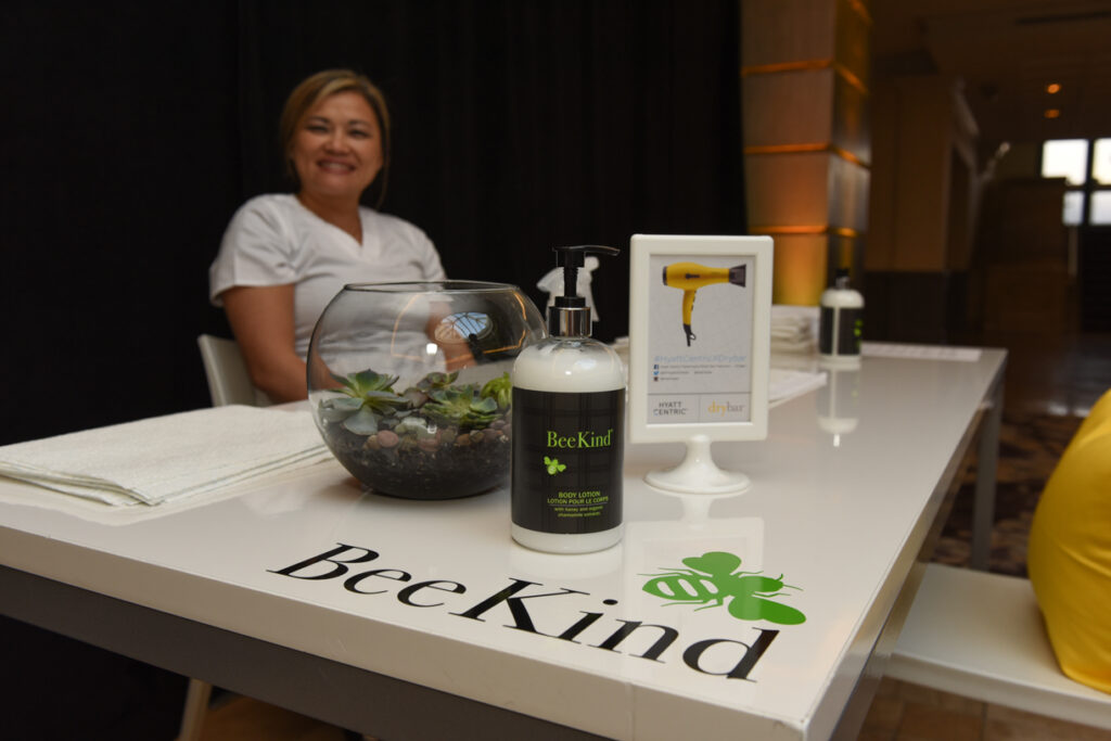 Hyatt Centric Media Event - BeeKind Hand Massage
