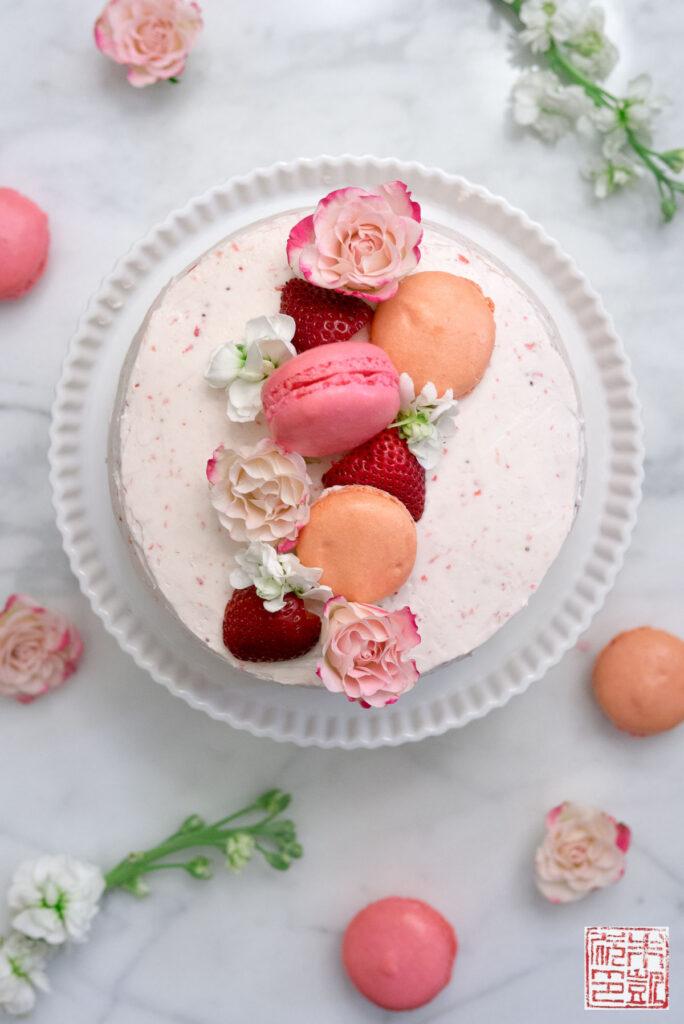 Strawberry Pink Velvet Cake
