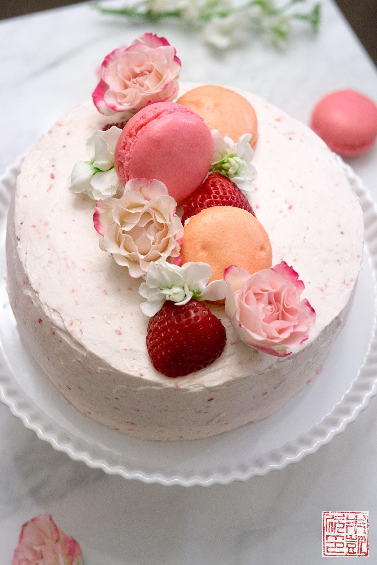 Happy Birthday to Me: Strawberry Pink Velvet Cake ...