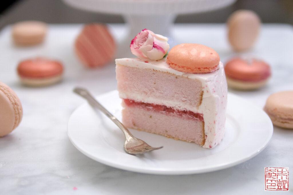 Strawberry Pink Velvet Cake slice