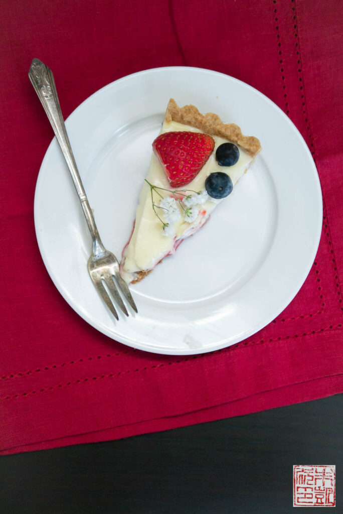 Berry Cheesecake Tart slice