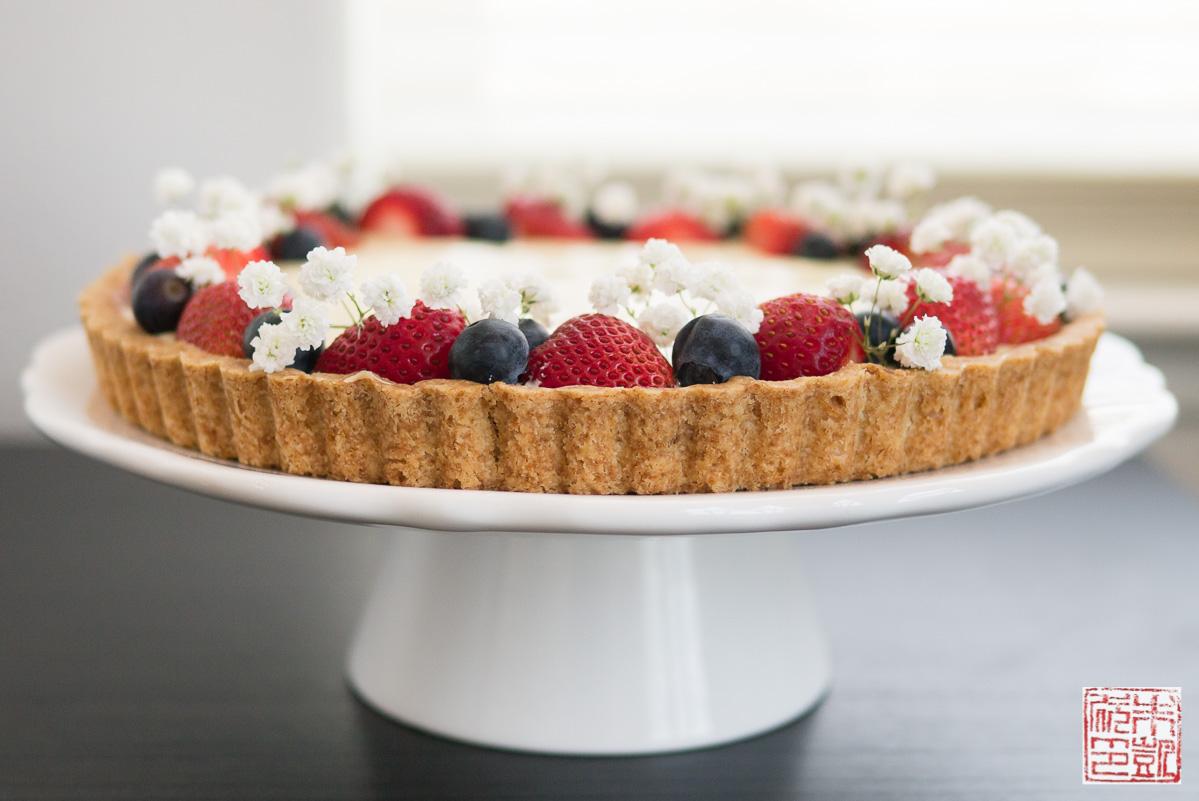 Happy Summer Berry Tart With Cheesecake Pastry Cream