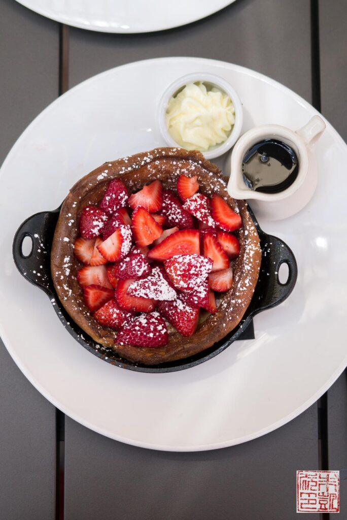 Pancake souffle with strawberries and maple syrup. The Verge's ...