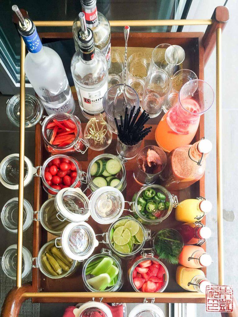 Verge Restaurant Bloody Mary Bar
