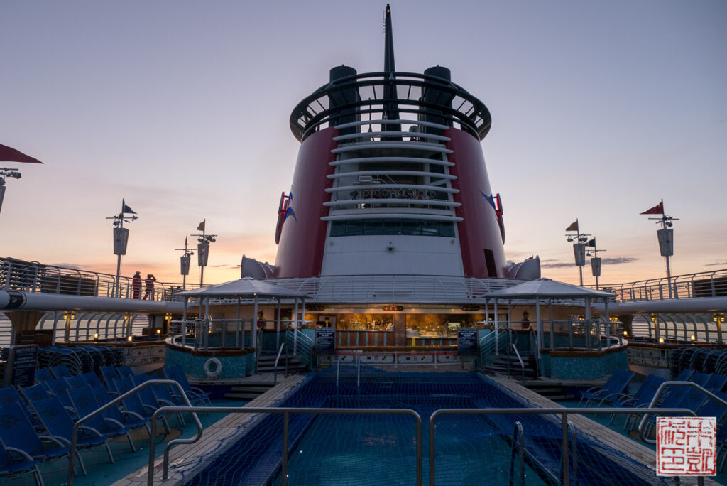 Disney Wonder Top Deck Sunset