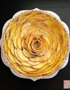 Heart of Summer: Peach Rose Tart
