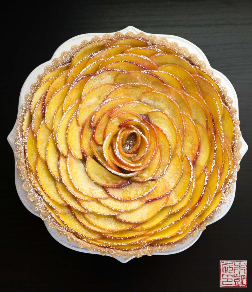 Peach Rose Tart
