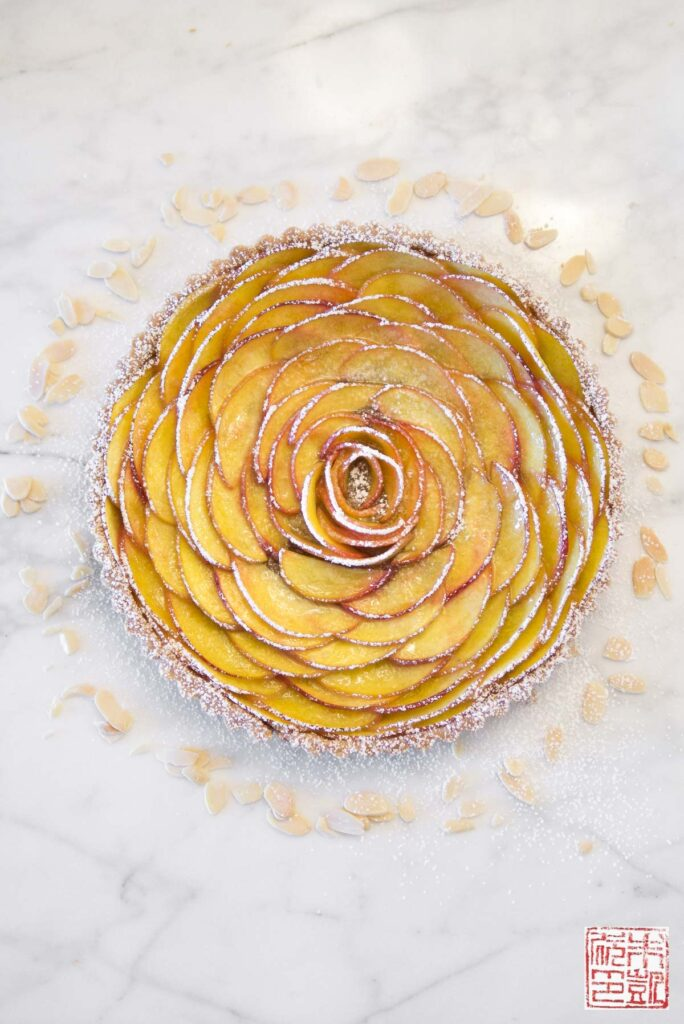 Peach Rose Tart