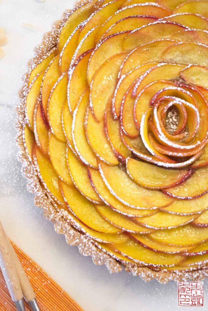 Peach Rose Tart Side