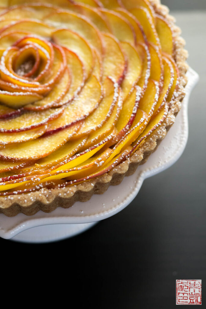 Peach Rose Tart Side