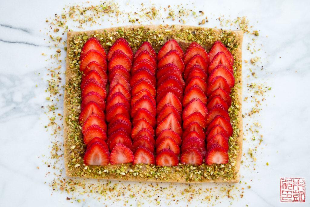 Strawberry Pistachio Frangipane Tart