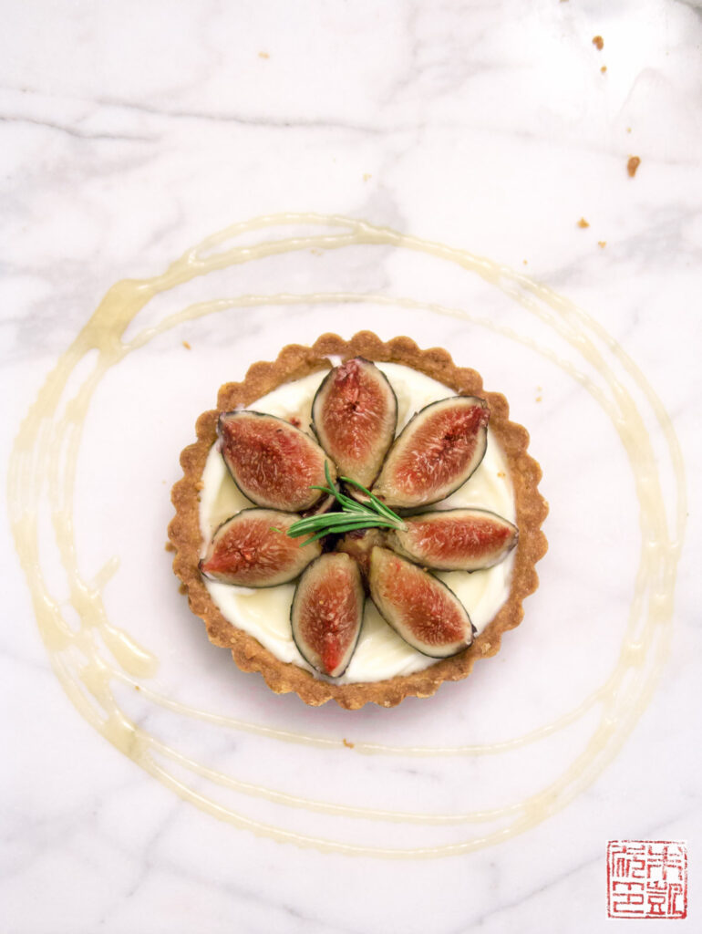 Fig Mascarpone Tart with Rosemary Cornmeal Crust