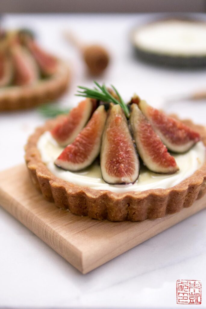 Fig Mascarpone Tart with Rosemary Cornmeal Crust
