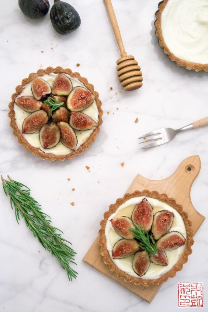Fig Mascarpone Tarts with Rosemary Cornmeal Crust