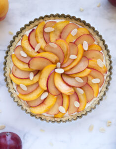 Peach Plum Tart with Cinnamon Vanilla Pastry Cream